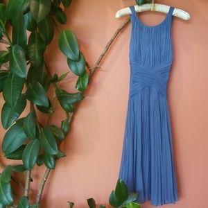 Beautiful Silk Dress with a criss cross back